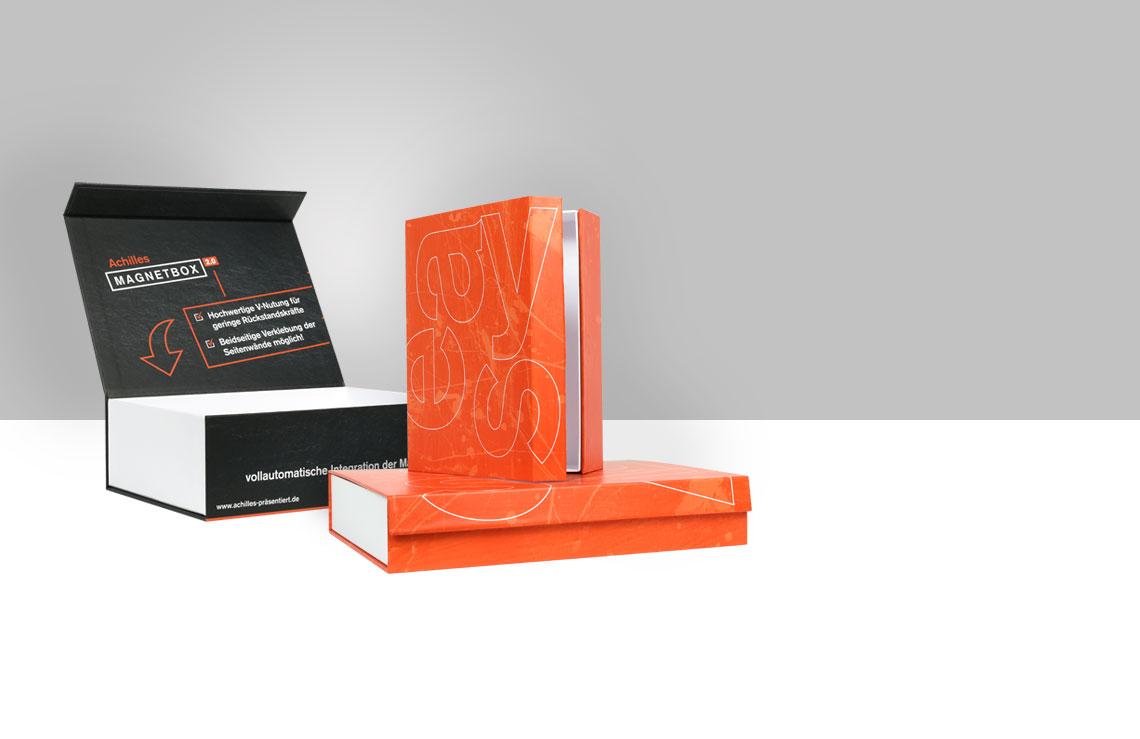 Inidividuelle Magnetbox, Magnetbox, Verpackung online drucken, Magnetverpackung, hochwertige Verpackung, easyordner