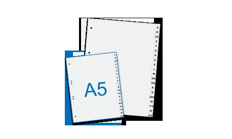 Kunststoffregister DIN A5 A-Z (1001283)