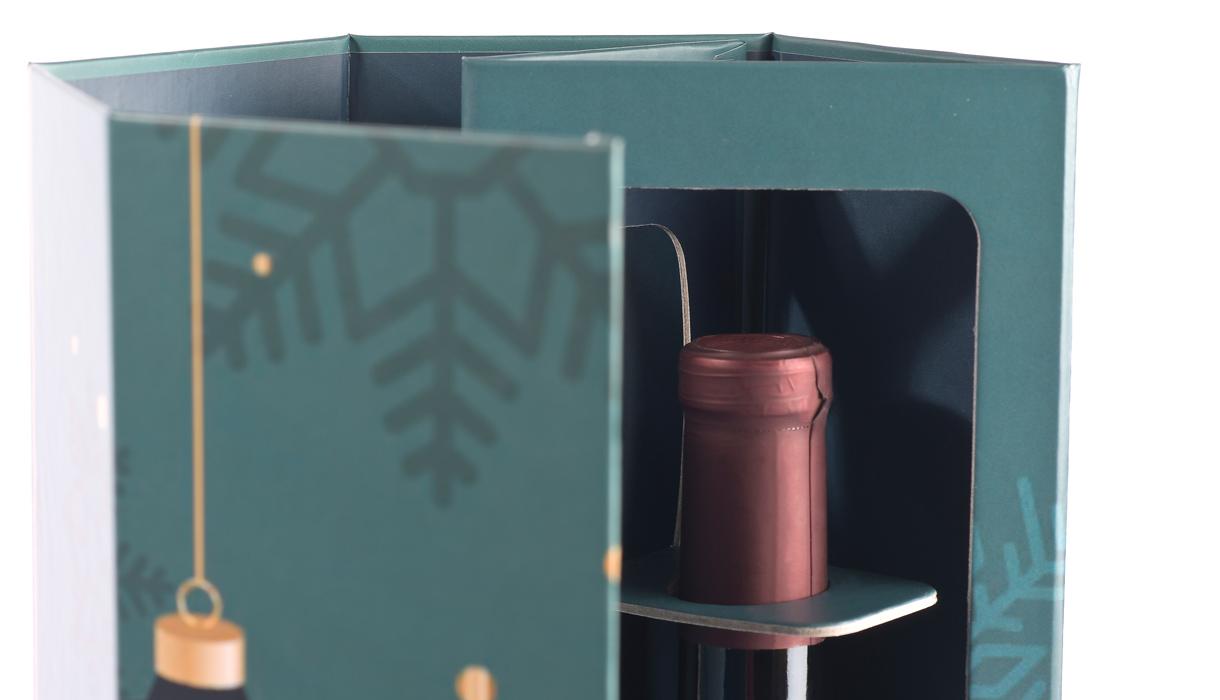 Detail Flaschenhals, Flaschenverpackung, Weinverpackung, B-JOY