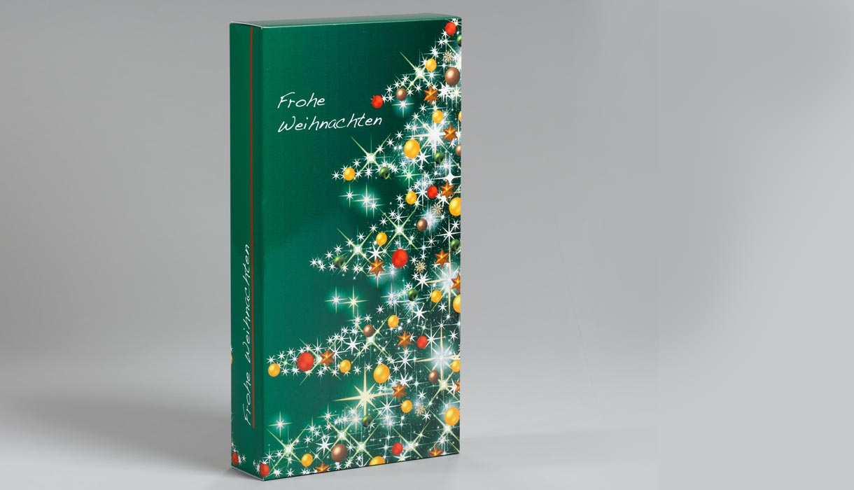 Weihnachtsverpackung, Geschenkverpackung online, online drucken, Verpackung Logo