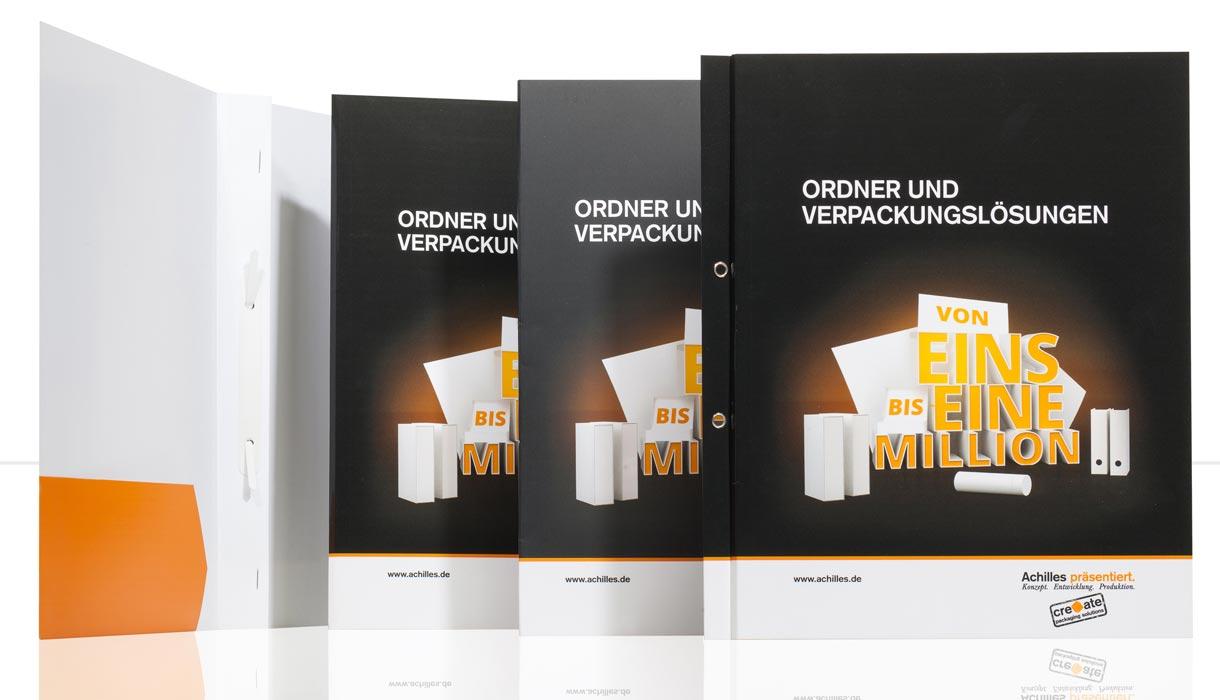 Pressemappe, Angebotsmappe individuell, mit Logo, online gestalten