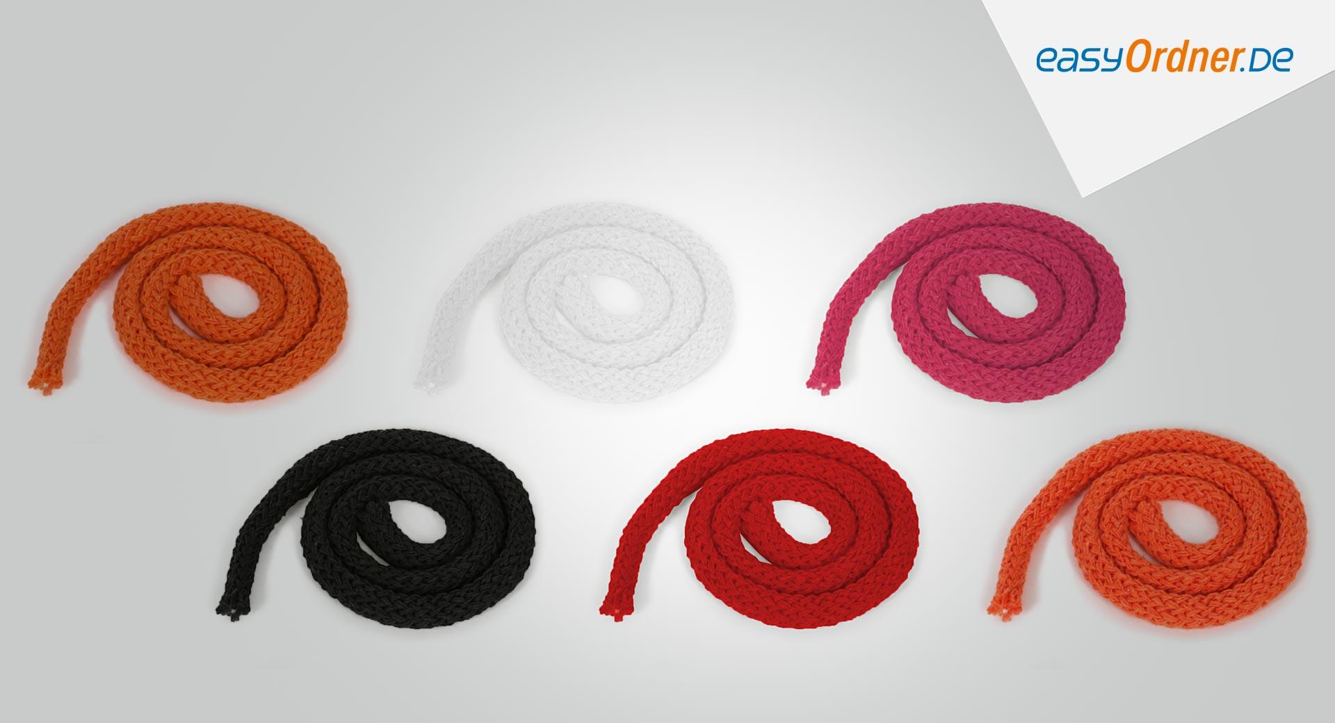 Standartfarben + Sonderfarben der möglichen Kordeln