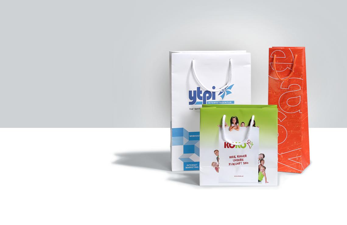 Papiertragetasche, Messetasche, Tragetasche aus Papier, Papiertasche, online drucken, easyordner