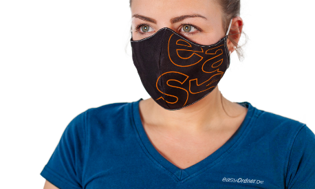 Schutzmaske mit indivuellem Aufdruck